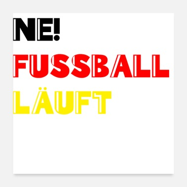 World Championship Football is running World Cup Germany Fanshirt - Poster