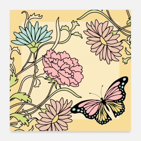 Nature Posters - papillon - Posters blanc