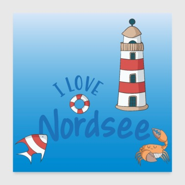 Poster Nordsee - Poster 60x60 cm