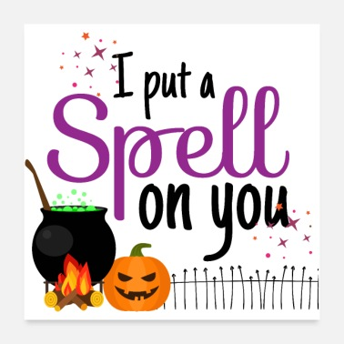 Sour I Put A Spell On You - Halloween Magic Curse - Poster 24 x 24 (60x60 cm)