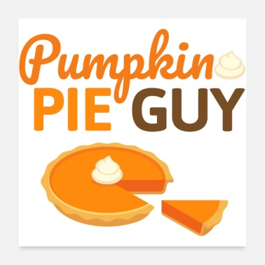 Tooth Pumpkin Pie Guy - Pumpkin Cake Halloween Fall - Poster 24 x 24 (60x60 cm)