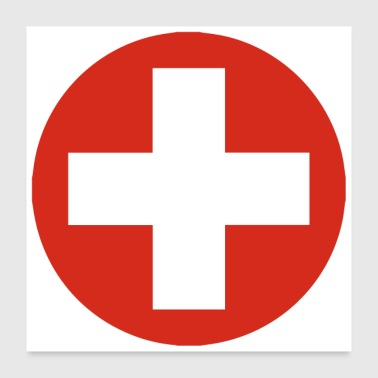 Switzerland COCARDE SWITZERLAND / 1807 - Poster 24 x 24 (60x60 cm)