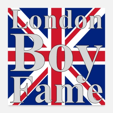 Jack London Boy Fame Union Jack - Poster 60x60 cm