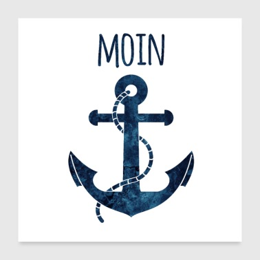 Anchor Moin blue - Poster 24 x 24 (60x60 cm)