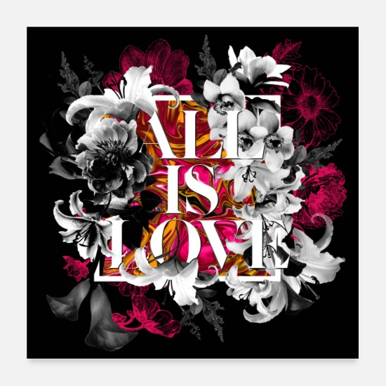 Love Collection V2 Poster - All is love - Poster Weiß
