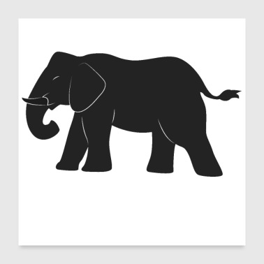 Safari Elephant design - Poster 60x60 cm