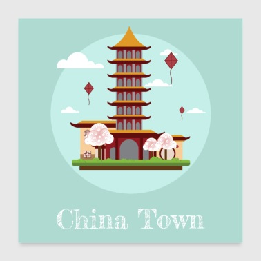 China Town - Poster 60x60 cm