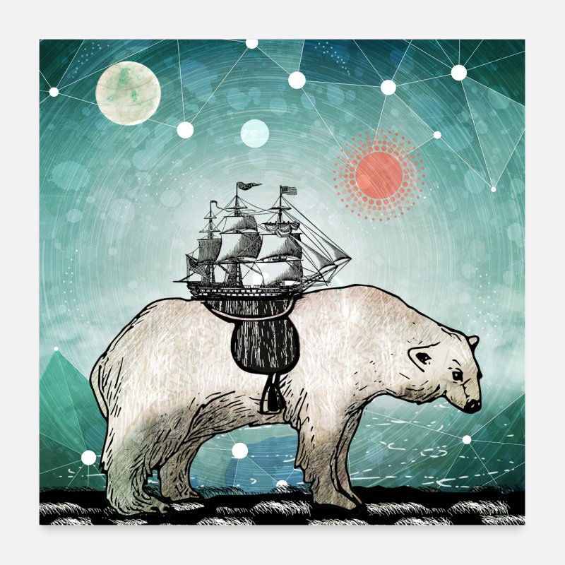 Homedecor Posters - Bring with You Your Ship - Posters white