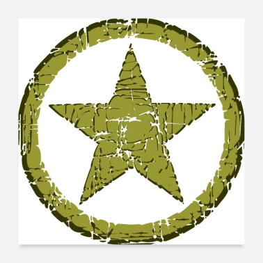 Military STAR MILITARY STONE - Poster 24 x 24 (60x60 cm)