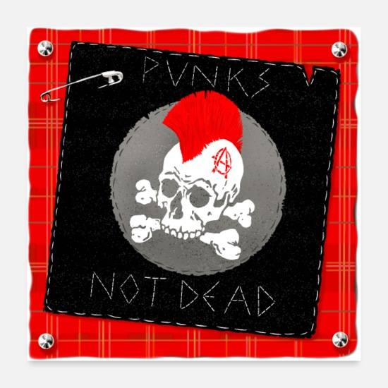Sk8 Posters - punks not dead - Posters white