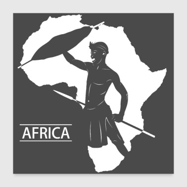Africa Warrior Poster - Poster 24 x 24 (60x60 cm)