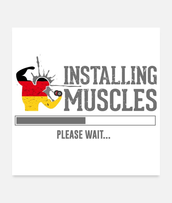 Body Builder Posters - Fitness muscles - Posters white