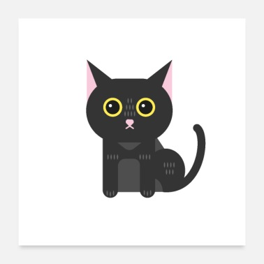 Cutie Black cat Kitten Puss - Poster