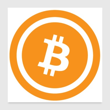 Bitcoin Logo Classic Poster - Poster 60x60 cm