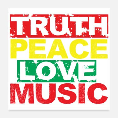 Truth Music peace love truth - Poster