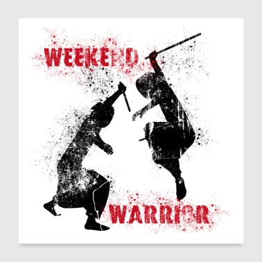 Weekend Warrior I - Poster - Poster 60x60 cm