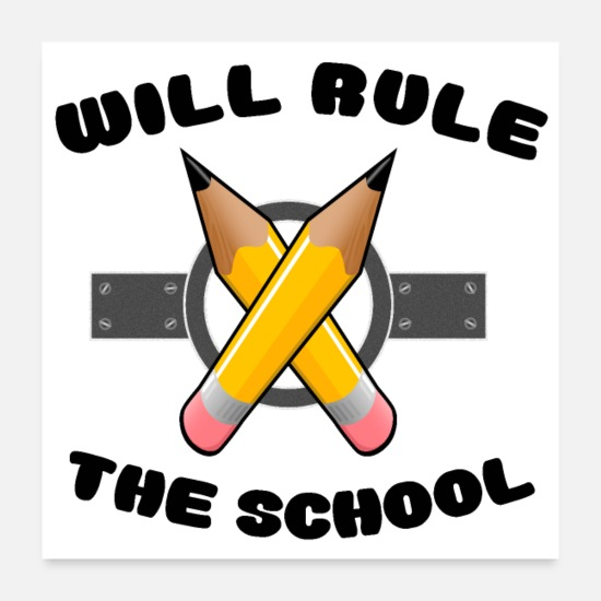 Kindergarten Posters - Will Rule The School - Posters white