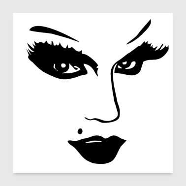 Eyelashes Beauty Face Beauty Face - Poster 24 x 24 (60x60 cm)