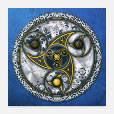 Celtic Consciousness Travel Machine - Poster 60x60 cm