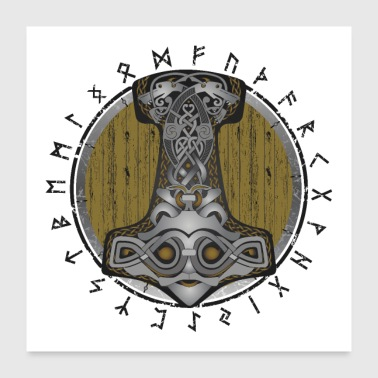 Ruota Poster di Thor Hammer - Poster 60x60 cm