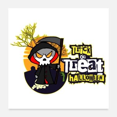 Dolcetti Dolcetto o scherzetto raccapricciante di Scheletro di Halloween -  Poster ee46cc11b33f