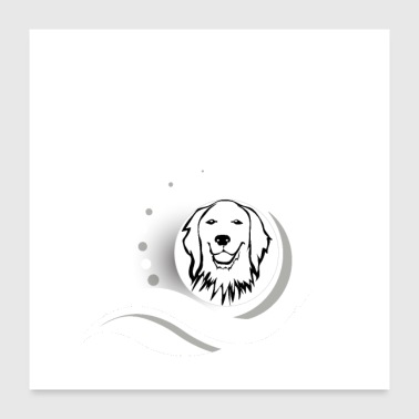 Hund Shirt • Behavioral Original • Hundegave - Poster 60x60 cm
