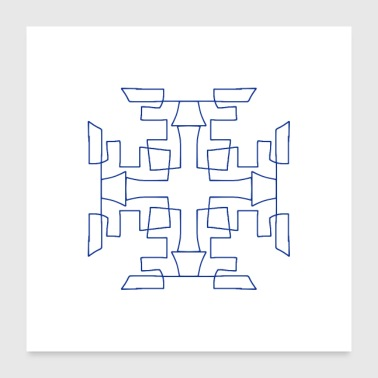 Flocon de neige scandinave - Poster 60 x 60 cm