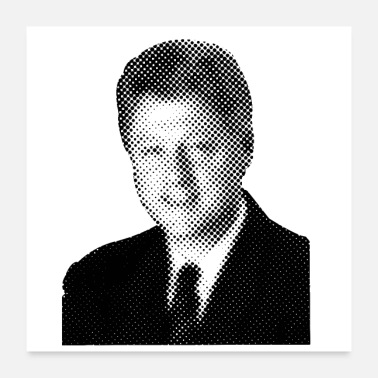 Democrat Pixelated Celebrities Bill Clinton President USA - Poster 24 x 24 (60x60 cm)
