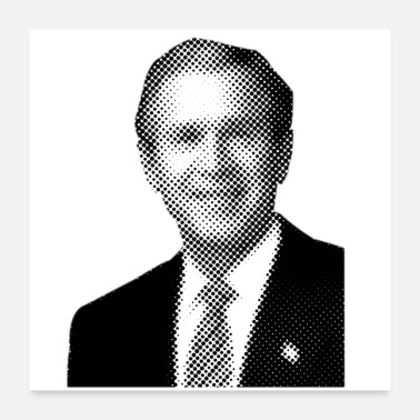 Amerika Pixelated Celebrities Bush President USA Amerika - Poster 60x60 cm