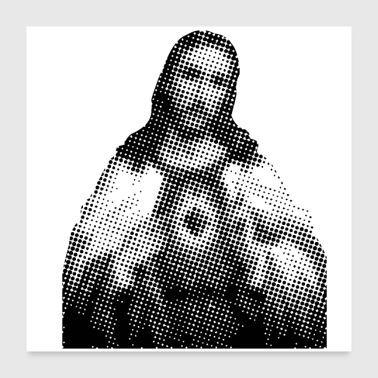Pixelated Celebrities Jesus Christ saints - Poster 24 x 24 (60x60 cm)