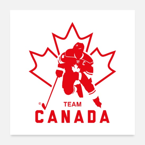 Canada Posters - TEAM CANADA MAPLE LEAF - Posters white