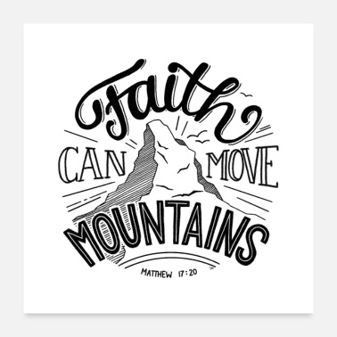 Move move mountains - POSTER - Poster 24 x 24 (60x60 cm)