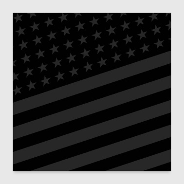 Los Angeles USA BLACK STARS AND STRIPES - Poster 60x60 cm