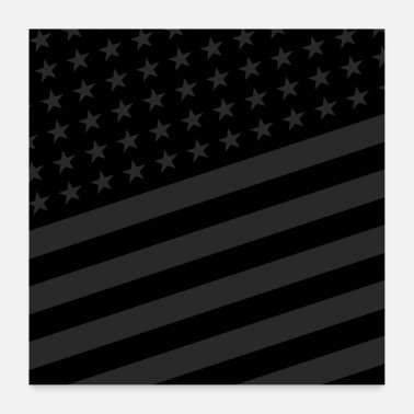 Usa USA BLACK STARS AND STRIPES - Poster 24 x 24 (60x60 cm)