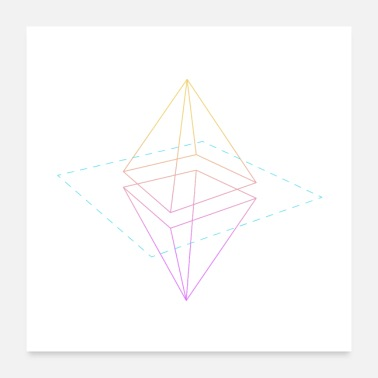 Triangle Colorful Triangles - Colorful Triangles - Poster 24 x 24 (60x60 cm)