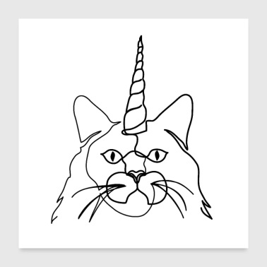 Unicorn cat - Poster 60x60 cm