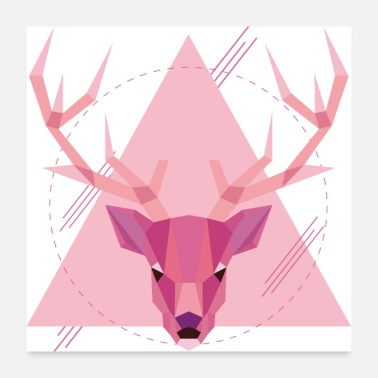 Stag Geometric stag - Poster 24 x 24 (60x60 cm)