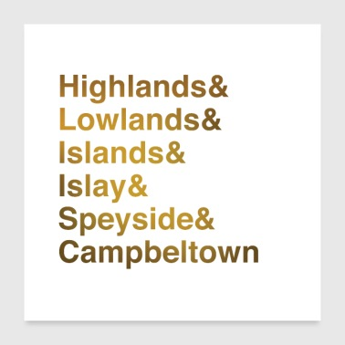 Whisky Regions - Poster 24 x 24 (60x60 cm)