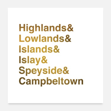 Whisky Whisky Regions - Poster 60x60 cm