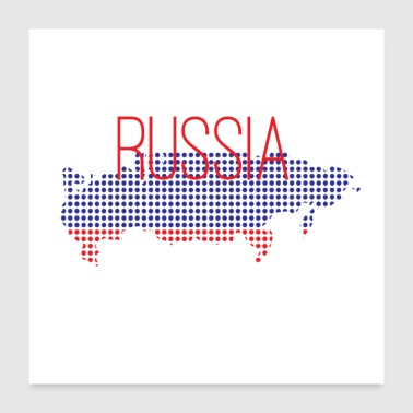 Russia with flag and national colors - Poster 24 x 24 (60x60 cm)