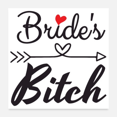 Arrowhead Bachelor party wedding brides heart arrow - Poster