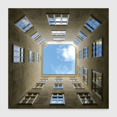 Vienna courtyard poster poster - Poster 24 x 24 (60x60 cm)