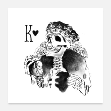 Poker Schedeloverhemd • King • Card Player-cadeau - Poster 60x60 cm