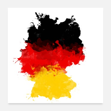 Germany GERMANY FLAG LANDESFARBEN GERMANY GRAFFITI - Poster