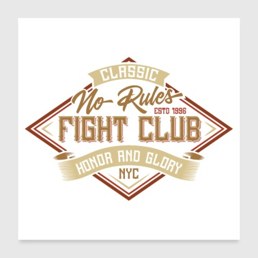 Nyc No Rules Fight Club - Poster 60x60 cm