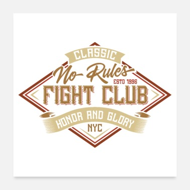 Nyc No Rules Fight Club - Poster 24 x 24 (60x60 cm)
