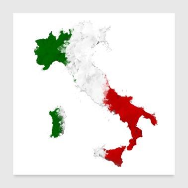 Shop rainbow flag posters online spreadshirt italy flag italia graffiti land poster 24 x 24 60x60 cm gumiabroncs Gallery