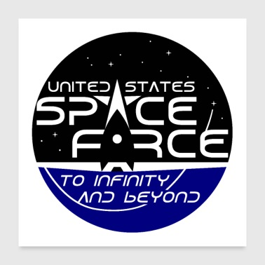 US Space Force - Poster 24 x 24 (60x60 cm)