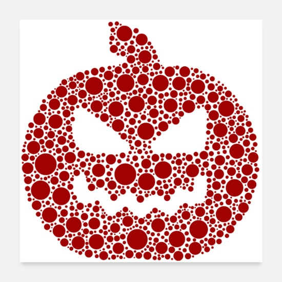 Horror Posters - Red Dot Pumpkin - Posters white