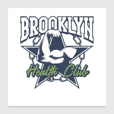Physique Brooklyn Health Club - Poster 60 x 60 cm